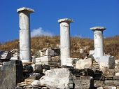 Pillars In Delos,greece