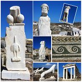 Delos Photo Collage,greece