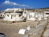 Stone Ruins In Delos,greece