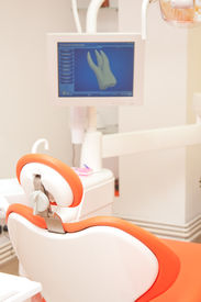 pic of medical equipment  - Medical equipment and monitors at a dentist cabinet - JPG