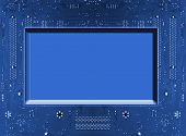 Circuit Board Background With Space For Text