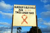 Welcome To The Village Of Pomerini-country In The Fight For The Prevention Of Aids-tanzania-africa