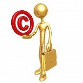 Businessman Holding Copyright Symbol