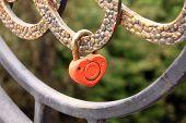 padlock shape heart. Symbol of love.