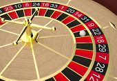 stock photo of roulette table  - Roulette table in a casino - JPG