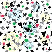 Pattern With Kittens.