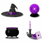 Halloween Set With Witch Accessories