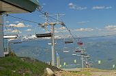 VANCOUVER, CANADA JULY 10: View of the Gondola on July 10, 2014 From Whistler.