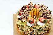 Delicious Cheese Cake With  Fruit Toping.