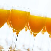 Fresh Orange Juice Over White