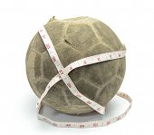 Old Football With Measuring Tape