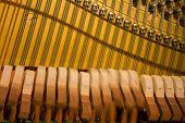 Piano Hammers Striking