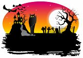Haunted Castle With Bats