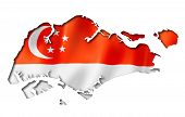 Singaporean Flag Map