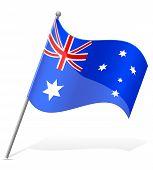 Flag Of Australia Vector Illustration