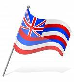 Flag Of Hawaii Vector Illustration