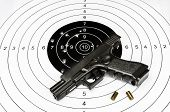image of guns  - Gun and shooting target - JPG