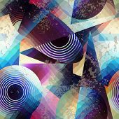 Abstract geometric pattern in cubism style.
