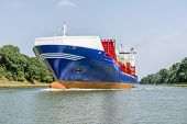 Cargo Ship In The Kiel Canal