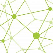 Green Triangular Geometric Network Pattern