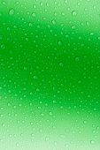 Water Droplets Green