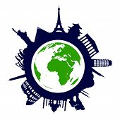 World landmarks poster
