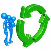 Family With Recycle Symbol
