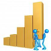 Teamwork Raising The Bar Graph