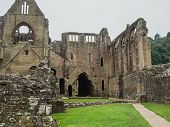 Ruins of Tintern Abbey, a former cistercian church from the 12th