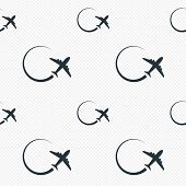 Airplane sign icon. Travel trip symbol.