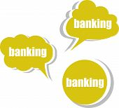 Banking. Set Of Stickers, Labels, Tags. Template For Infographics