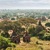 Ancient Buddhist Temples at Bagan Kingdom Myanmar (Burma)