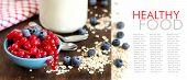 Healthy Breakfast  -  Fresh Berries, Cereals And Naturall Yogurt