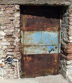Metal rusty old door