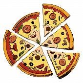 Sliced pizza icon