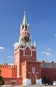 Spasskaya Tower In Moscow Kremlin