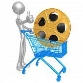 Film Reel Shopping Cart