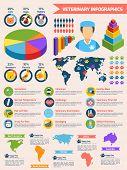 pic of bag-of-dog-food  - Veterinary pet health care animal medicine infographics set vector illustration - JPG