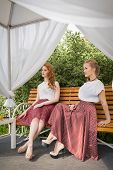Two Woman Posing Outdoors