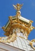 Dome Of The Big Peterhof Palace, Russia