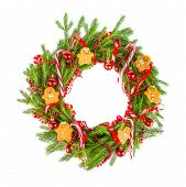 Christmas Wreath With Ginger Cookies