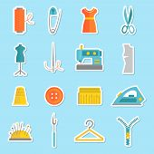 Sewing equipment stickers
