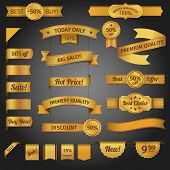 Discount retro ribbon golden set