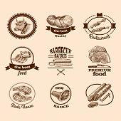 Sketch meat labels