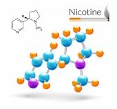 Nicotine molecule 3d