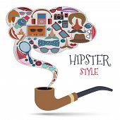 Hipster style concept