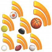 Sports RSS Icon Set