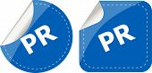 Pr Word On Stickers Set, Icon Button