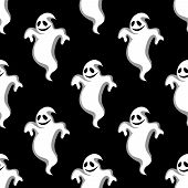 Seamless pattern of Halloween ghosts