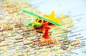 London ,uk   Map Pin Airplane